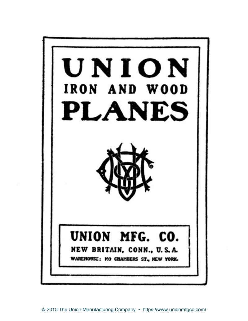 Union Iron And Wood Planes Catalog 1905_Page_03