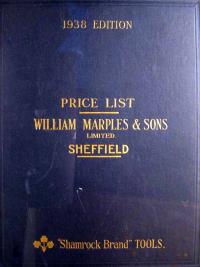 Marples 1938 Trade Catalog